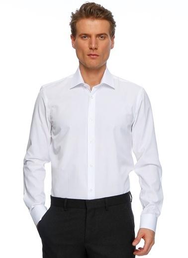 Cotton Bar Uzun Kollu Klasik Gömlek Beyaz